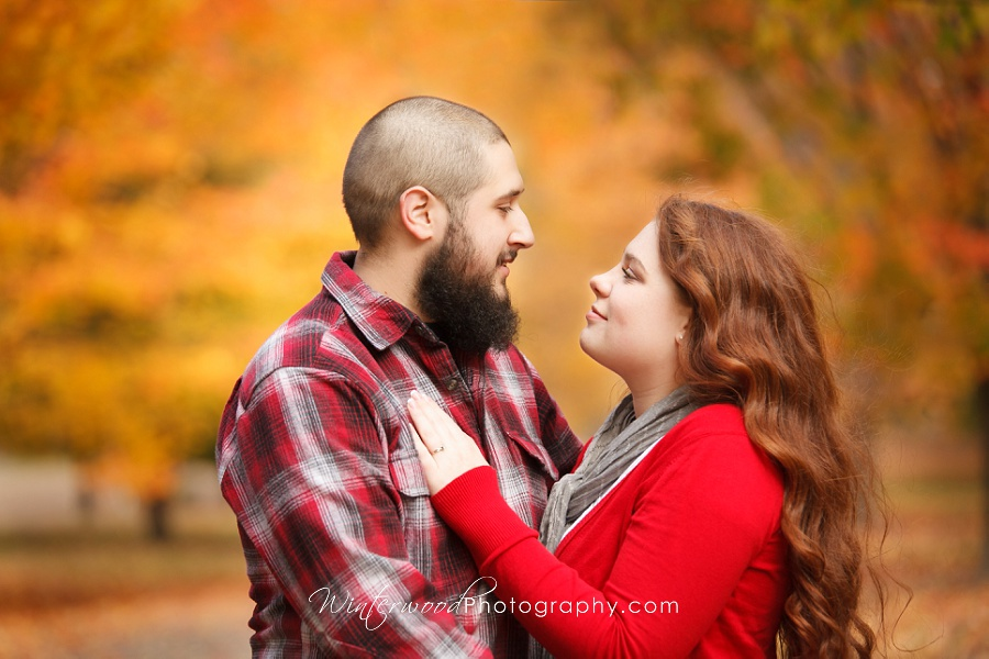 Engagement portraits in autumn