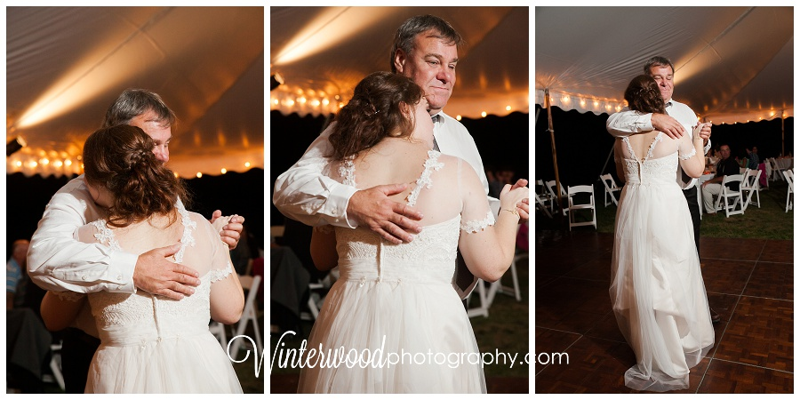 Oxford Connecticut Father Daughter Wedding Dance Photograph
