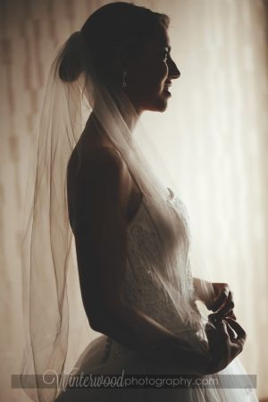 Stunning profile photograph of wedding model