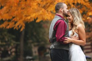 Autumn couple by Connecticut wedding photographer